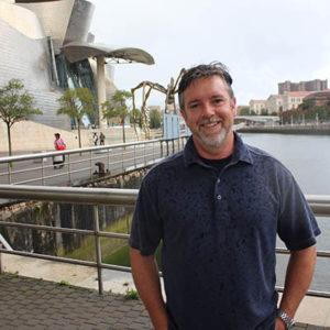 Gerald Jones at the Guggenheim Museum in Bilbao Spain