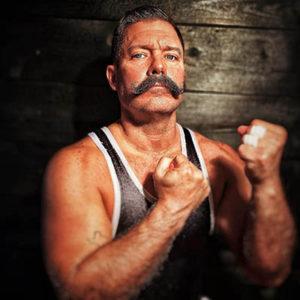 Vintage look bare knuckle boxer portrait