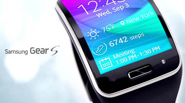 Close Up of Samsung Gear S watch face