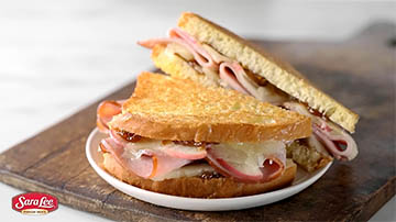 Grilled cheese sandwich featuring Sara Lee deli meats